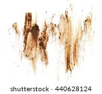 drops of mud sprayed isolated... | Shutterstock . vector #440628124