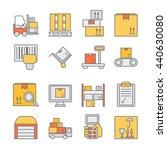 big set of modern thin line... | Shutterstock .eps vector #440630080