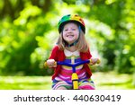 cute girl wearing safety helmet ... | Shutterstock . vector #440630419