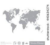 world map illustration | Shutterstock .eps vector #440634274