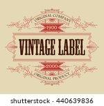 vintage typographic label... | Shutterstock .eps vector #440639836