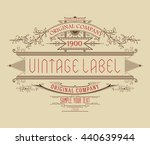vintage typographic label... | Shutterstock .eps vector #440639944