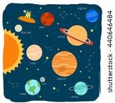illustration of cute cartoon... | Shutterstock .eps vector #440646484