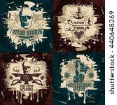 tattoo studio designs with... | Shutterstock .eps vector #440648269