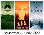 mountain expeditions vertical...   Shutterstock .eps vector #440648320