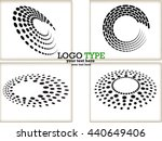 set of abstract halftone logo... | Shutterstock .eps vector #440649406