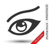 Woman's Eye Icon. Woman's Sigh...