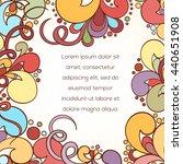 zentangle style abstract... | Shutterstock .eps vector #440651908