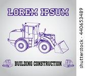 isometric excavator icon.... | Shutterstock .eps vector #440653489