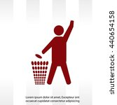 throw away the trash icon ... | Shutterstock .eps vector #440654158