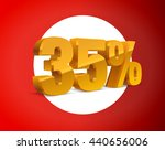 35  percent off  sale white... | Shutterstock .eps vector #440656006
