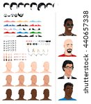 male avatars  in different ages ... | Shutterstock .eps vector #440657338