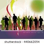 sport  marathon runners... | Shutterstock .eps vector #440662054