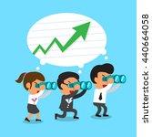 cartoon business team look for... | Shutterstock .eps vector #440664058