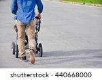 handsome hipster modern walking ...   Shutterstock . vector #440668000