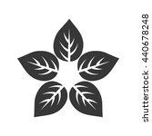 leaf icon. nature plant design. ... | Shutterstock .eps vector #440678248