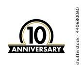 anniversary vector unusual... | Shutterstock .eps vector #440680060