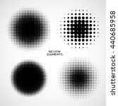 simple abstract halftone... | Shutterstock . vector #440685958