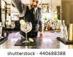 expert barman is making... | Shutterstock . vector #440688388