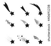 falling  stars vector set icons ... | Shutterstock .eps vector #440691238
