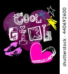 cool girl to print t shirts.... | Shutterstock .eps vector #440692600