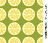seamless pattern of lemons  ... | Shutterstock . vector #440697634