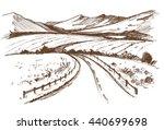 road. hand drawn vector... | Shutterstock .eps vector #440699698