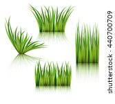 fragments of the green grass... | Shutterstock .eps vector #440700709