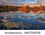 Sunset reflections at Hidden Lake Territorial Park, Northwest Territories, Canada