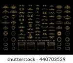 vintage borders  frame and... | Shutterstock .eps vector #440703529