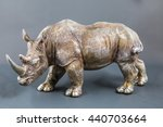 sculpture of a rhinoceros | Shutterstock . vector #440703664