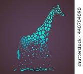 vector giraffe silhouette ...   Shutterstock .eps vector #440704090