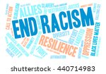 end racism word cloud on a... | Shutterstock .eps vector #440714983
