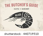 cut of meat set. poster butcher ... | Shutterstock .eps vector #440719510