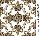 oriental floral seamless... | Shutterstock .eps vector #440725480