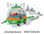 self driving car concept  pod... | Shutterstock .eps vector #440728144