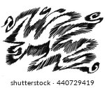 black and white watercolor... | Shutterstock . vector #440729419