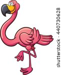 cartoon flamingo. vector clip... | Shutterstock .eps vector #440730628