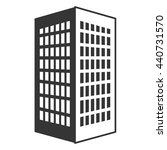 black tall building with white