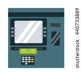 Atm Cash Dispenser Vector...