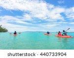 kayaks. people kayaking in the...   Shutterstock . vector #440733904