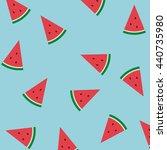 watermelon pattern in blue... | Shutterstock .eps vector #440735980