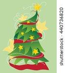 christmas tree illustration | Shutterstock .eps vector #440736820