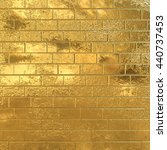 golden brick wall  gold... | Shutterstock . vector #440737453