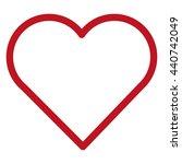 simple red heart | Shutterstock .eps vector #440742049