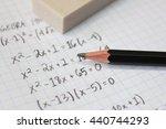 math problems on graph paper... | Shutterstock . vector #440744293
