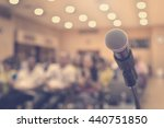 microphone on conference room | Shutterstock . vector #440751850