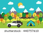 outdoor camping trip in the...   Shutterstock .eps vector #440757610