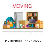 moving to new house with home... | Shutterstock .eps vector #440764030