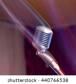 microphone on stage | Shutterstock . vector #440766538